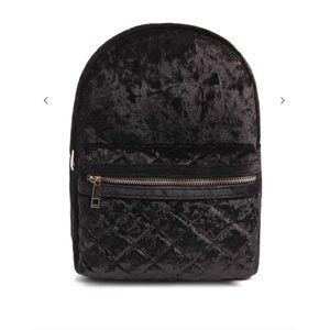Black Velvet Backpack
